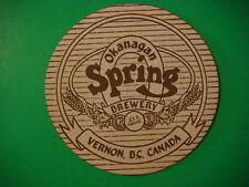 Beer COASTER ~**~ Sleeman Brewing OKANAGAN SPRING Brewery ~ Vernon, B.C., CANADA