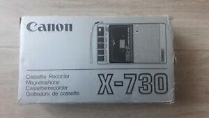 Canon X-730 cassette recorder. Testé Fonctionne Très bon état