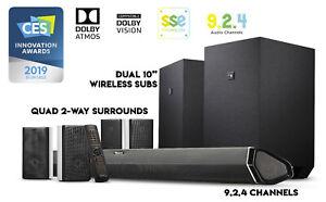 Nakamichi Shockwafe Ultra 9.2.4Ch 1000W Soundbar w Dolby Atmos, Dolby Vision+SSE