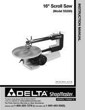 "Delta SS200 16"" Scroll Saw Instruction Manual Printed or PDF FREE SHIPPING"