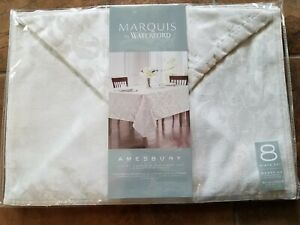 MARQUIS BY WATERFORD AMESBURY LUXURY NAPKINS & PLACEMATS 8 PC SET BRAND NEW