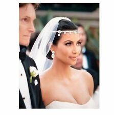 Silver Chain Wedding Crystal Charm Bridal Head Hair Headband Headpiece Jewelry