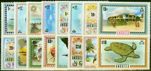 Anguilla 1972 Set of 16 SG130-144a Very Fine MNH