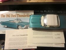 Danbury Mint 1961 Ford Thunderbird Convertible with Title paperwork no box