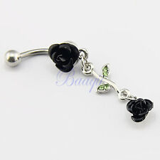 JW726 Barbell Belly Bar Ring Button Navel Body Piercing Jewelry Unique Dance EW