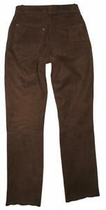 """ Highway 1 "" Damen- Leather Jeans / Biker Trousers/Trousers IN Braun Size 34"