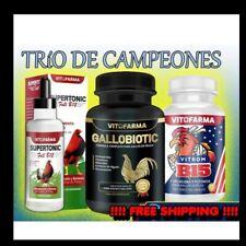 COMBO TRIO GALLOS/ ROOSTERS SUPERTONIC, GALLOBIOTIC & B15.