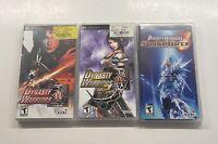 Sony PSP Dynasty Warriors, Strikeforce Sealed & Volume 2 New! Read Description