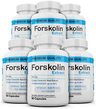 x6 Pure Weight loss Extreme 800mg FORSKOLIN Coleus Forskohlii 20% extract