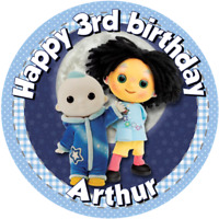 "The Moon and Me   7.5"" Round  Edible Icing Cake Topper Birthday"