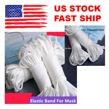 3mm Round Elastic Band Cord DIY Material Ear Hanging Sewing Crafts - 10 yards US