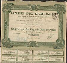 RIZIÈRES d'EXTREME ORIENT (SAIGON INDOCHINE) (O)