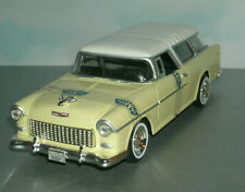 1/24 Scale 1955 Chevy Bel Air Nomad Wagon Diecast Model - MotorMax 73248 Yellow