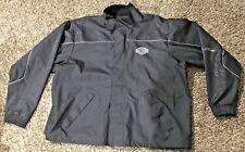Harley Davidson Mens Motorcycle Rain Suit Coat Jacket Black 2XL PVC 1