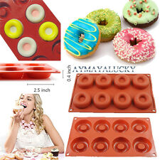 8 Cavity Silicone Donut Doughnuts Mold Muffin Pan Chocolate Cupcake Baking Mould