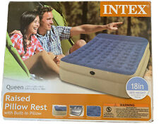 Intex Raised Pillow Rest Queen Airbed w/Built-in Pillow