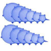 12 Pcs Couvercle Extensible Silicone Durable - Couvercle Extensible Pour Al R2N2