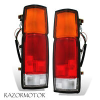 1986-97 Replacement Tail Light Pair For Nissan D21 Pickup w/Bulb + Harness