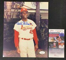 """BOB GIBSON HAND SIGNED AUTOGRAPHED 8x10"""" BASEBALL PHOTO JSA/COA"""