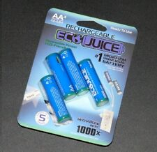 EcoJuice Ni-MH AA Rechargeable Battery 4 of Batteries TZUMI w/ Micro USB 1000mAh