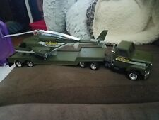 """""""Very Rare"""" Vintage ERTL Airwolf """"Wolfpack"""" Large Helicopter And Transport Truck"""