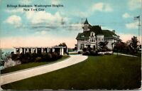 VINTAGE POSTCARD BILLINGS RESIDENCE WASHINGTON HEIGHTS NEW YORK CITY 1910 SOME W