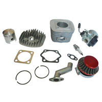 Motorized Bike 80cc Engine Rebuild Kit Cylinder Piston Carburetor Air Filter New