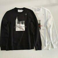 NWT Calvin Klein Jeans Men's Monogram Logo Subway Crewneck Pullover Sweatshirt