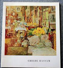 1965 CHILDE HASSAM Exhibition CATALOGUE Art BOSTON Corcoran CURRIER MFA