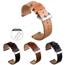 Universal Retro Leather Watch Band Strap Belt for Smart Watch 18mm 20mm 22mm