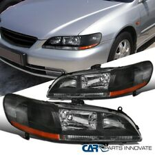 Black/Clear For Honda 98-02 Accord DX EX LX Headlights Replacement Driving Lamps