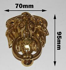 Lion door Knocker solid brass polish 70x95mm (ref: 76)