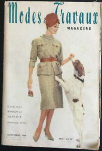 Magazine Modes & Travaux  Septembre 1960