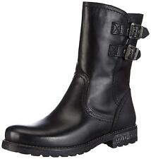 Tamaris 25436 Black Leather Everyday Winter Ankle BOOTS Narrow Fit Size UK 7