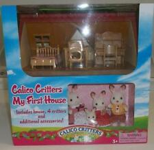 Calico Critters My First house rare Authentic with Rabbit Family 3+ boys & girls