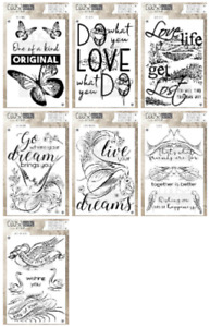 Coosa Crafts Nice A6 Clear Stamps - Love - Dream - Butterfly - Birds - NEW