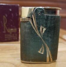 Vintage Working  Gold Tone Ronson Varaflame Princess Lighter WITH ORIGINAL BOX