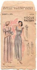 Vintage Vogue Pattern 6661 Nightgown Size Medium