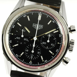 Heuer Carrera CS3111 Chronograph black Dial Hand Winding Men's Watch_630391