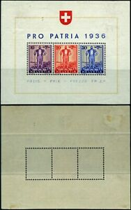 T044 Switzerland Yvert souvenir sheet # 2 mint hinged