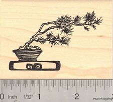 Windswept Bonsai Tree Rubber Stamp K13811 WM Foliage
