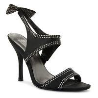 New Ladies Peep Toe Platform Ankle Strappy Stiletto High Heel Sandals UK 3-8
