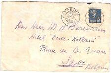 Norway 1936 cover NORHEIMSUND to Belgium from SMN ss Tarakan