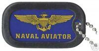 USN NAVY NAVAL AVIATOR MILITARY WAR   DOG TAG