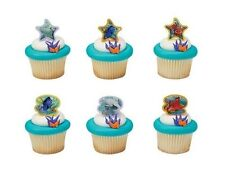 DISNEY FINDING DORY CUPCAKE RINGS TOPPERS PARTY FAVORS GOODY BAG FILLER 24 PCS