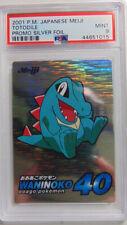 Totodile Meiji Promo PSA 9 Mint Silver Foil Holo Rare Pokemon Card