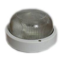 Plafoniera bianca Reer Clip Tonda E27 IP44 max 60W per esterni