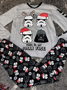 Star Wars Boys Christmas Pyjamas Age 12-13 Immaculate Condition