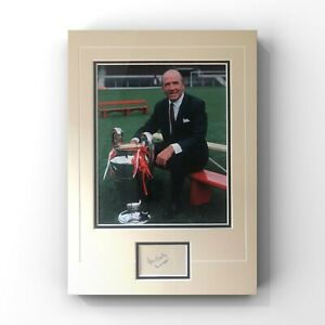 Matt Busby - Former Manchester United (Busby Babes) Manager Signed Display