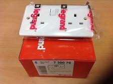 5 x Legrand Plug Socket 2 Gang - Synergy 7300 76 Quality Slimline Fitting